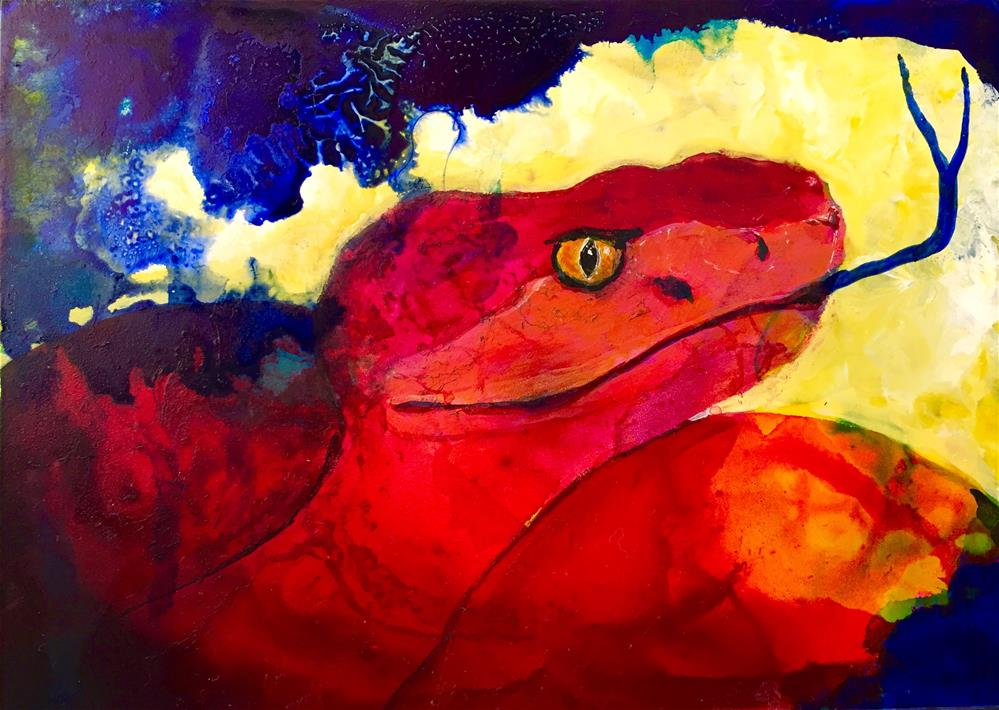 """#24 Shedding the Past"" original fine art by Silke Powers"