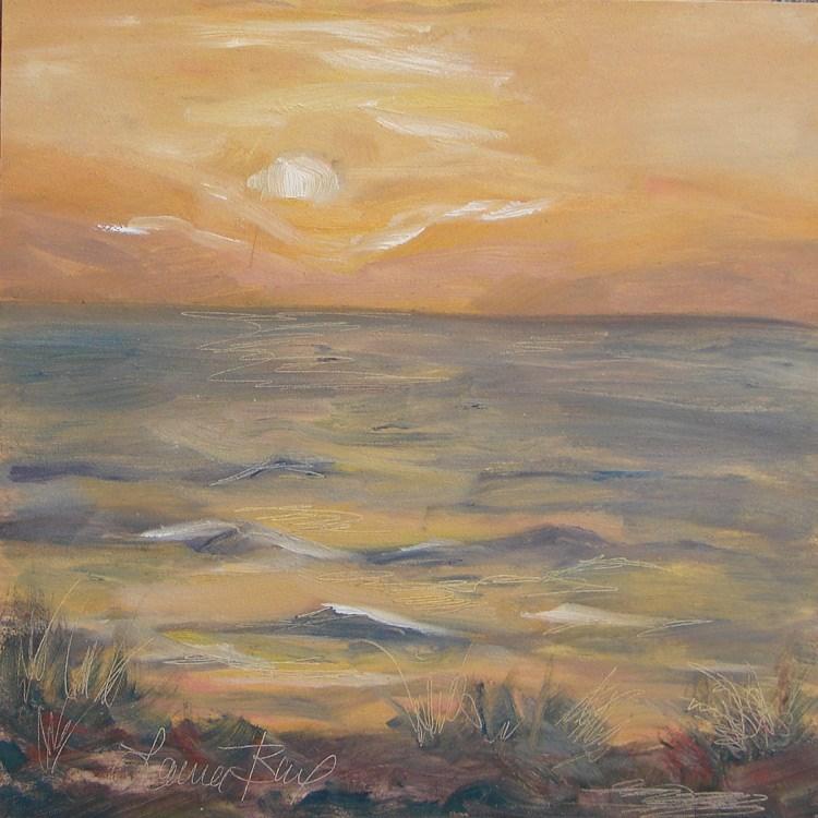 """""""Windy Evening 467"""" original fine art by Laura  Buxo"""