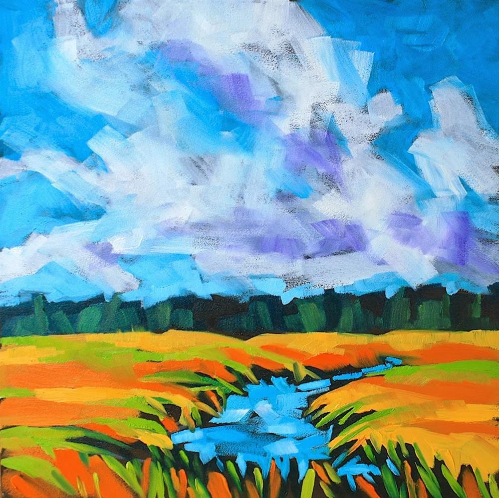 """""""Fall on the Marsh"""" original fine art by Mary Anne Cary"""