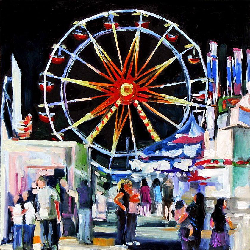 """""""Ferris Wheel Ride"""" original fine art by Joanna Bingham"""