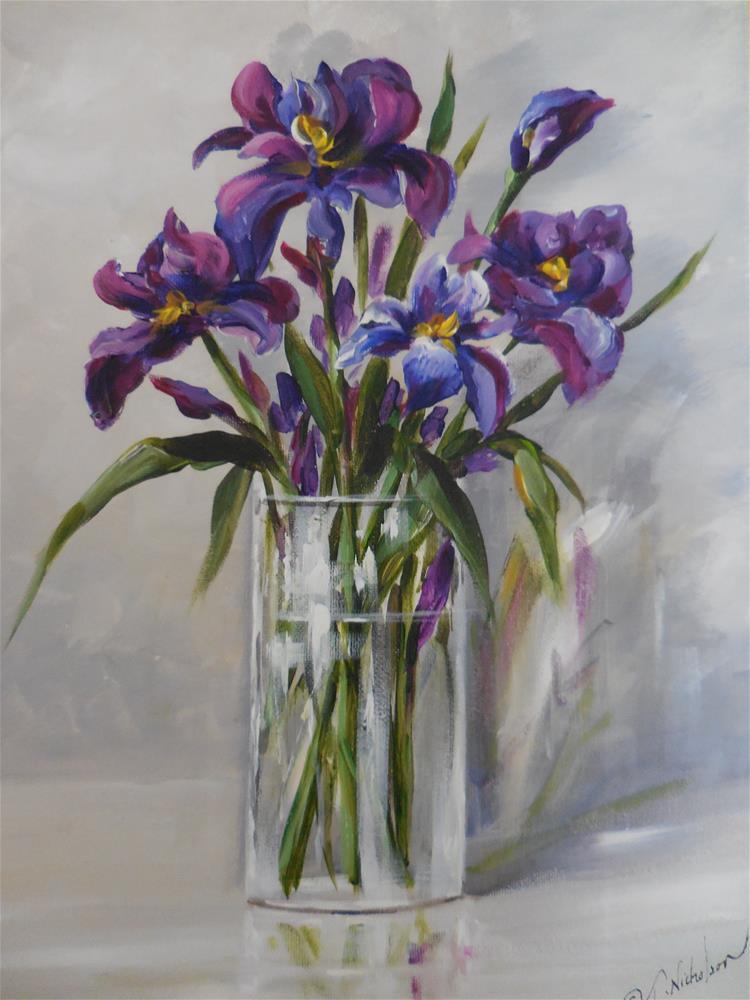 """Iris"" original fine art by Terri Nicholson"