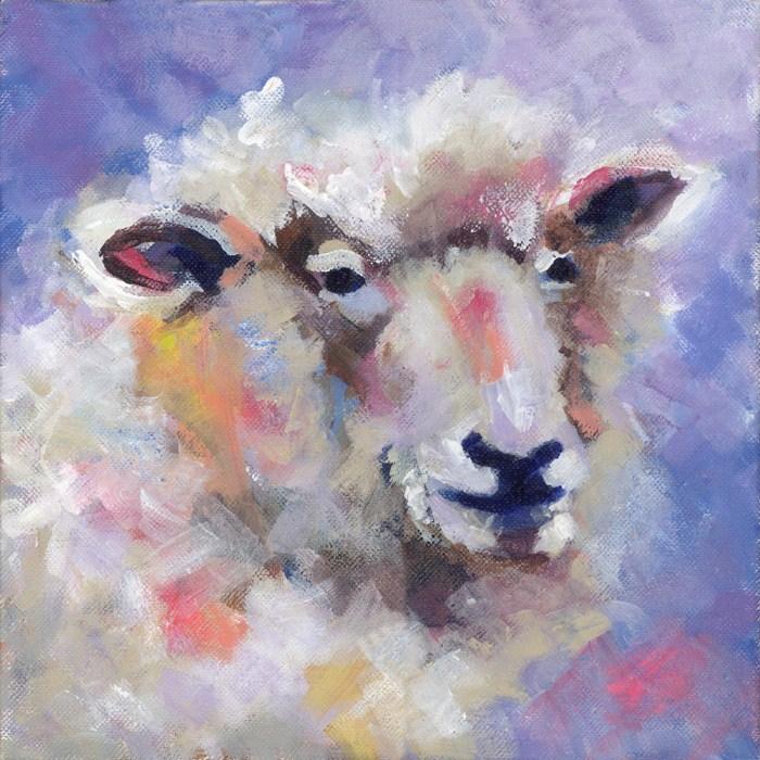"""""""Wise Woolly"""" original fine art by Pamela Gatens"""