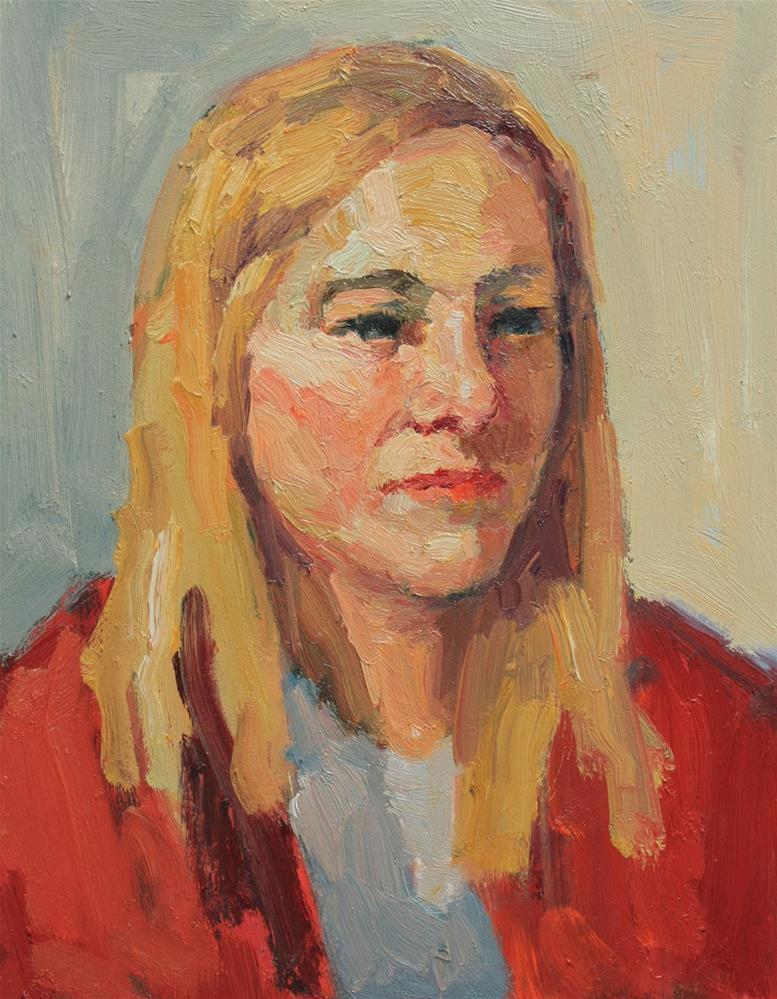 """Portrait Study #19"" original fine art by Kathryn Townsend"