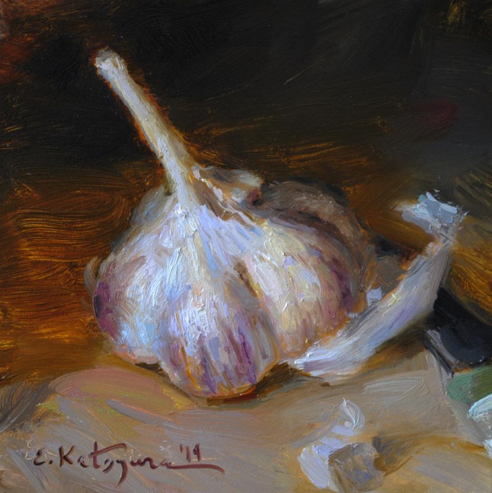 """""""One Garlic"""" original fine art by Elena Katsyura"""