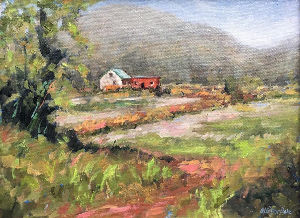 """Farm House, Wheeler, Oregon"" original fine art by Allison Doke"
