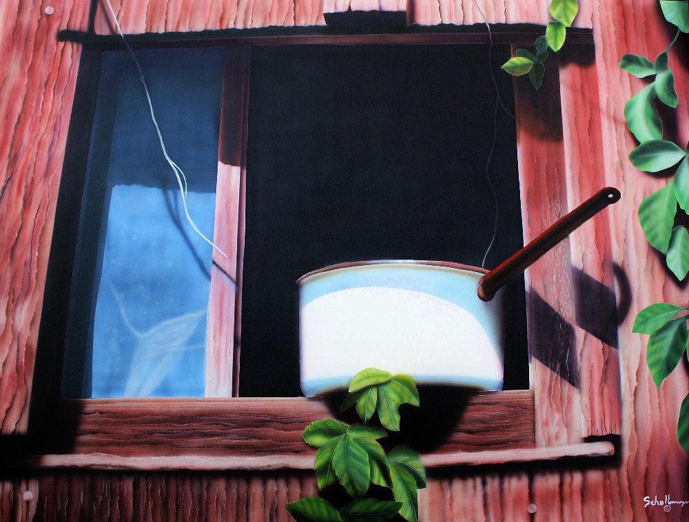 """""""Pot Luck"""" original fine art by Fred Schollmeyer"""