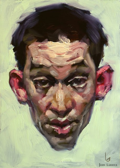"""Pink Ears"" original fine art by John Larriva"
