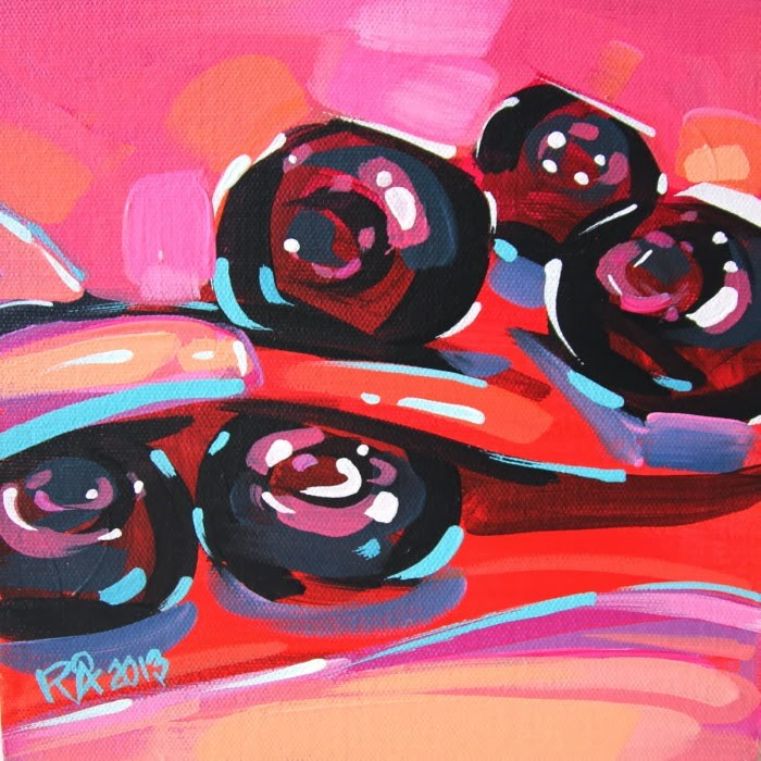 """""""Blueberry Abstraction 10"""" original fine art by Roger Akesson"""