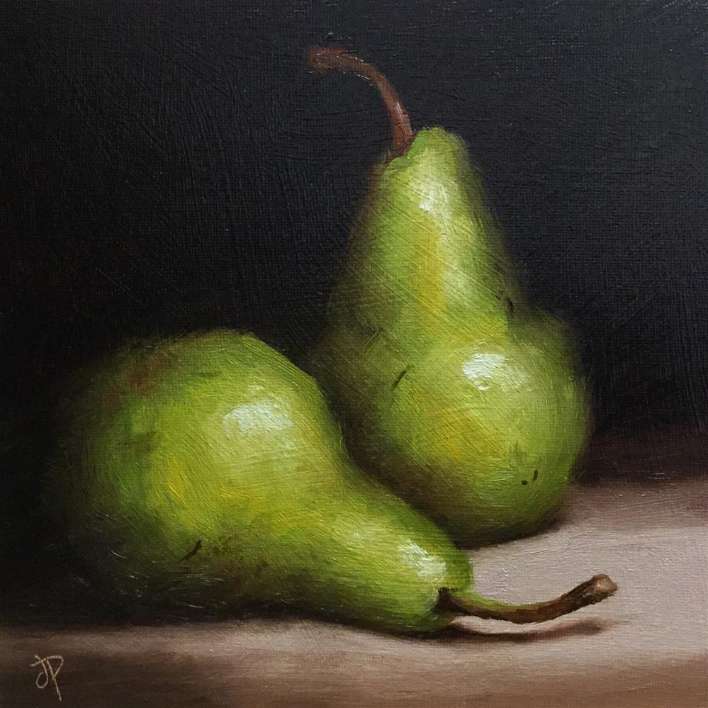 """Pair of Pears"" original fine art by Jane Palmer"