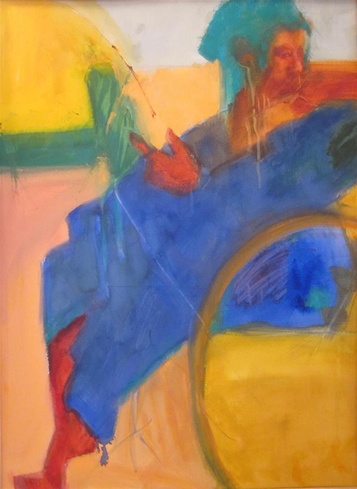 """Turquoise Bonnet"" original fine art by Carol Wiley"