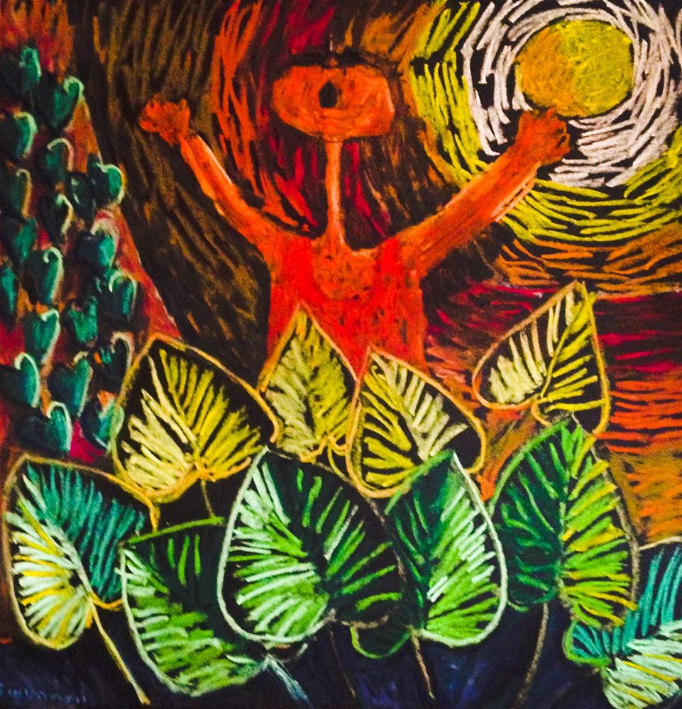 """""""A song to the sun"""" original fine art by Giovanni Antunez"""