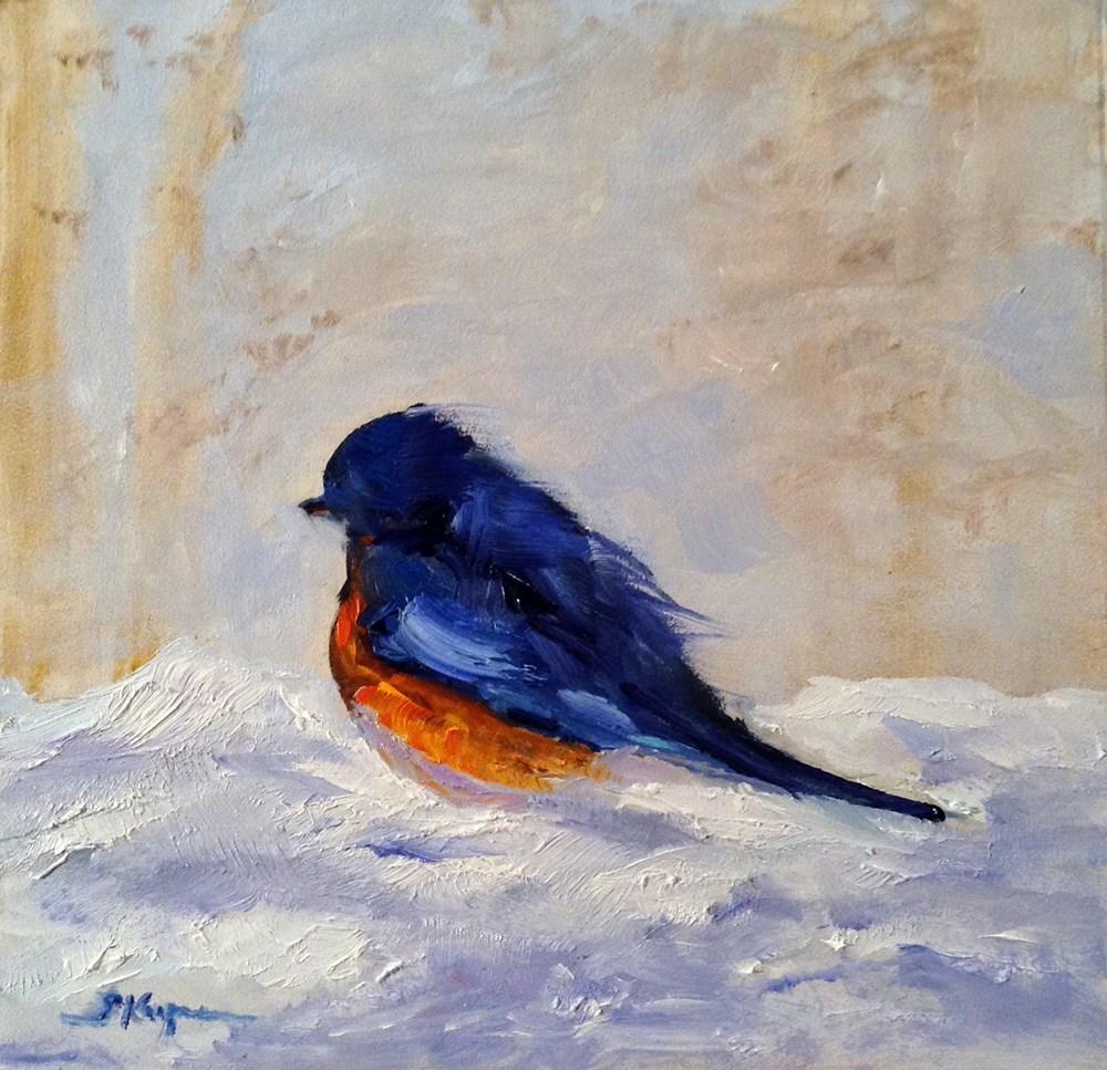 """""""Bluebird Up Close and Personal"""" original fine art by Shelley Koopmann"""