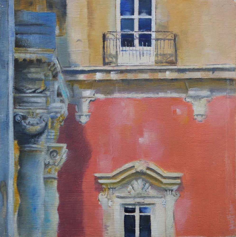 """Sicilian Palazzo"" original fine art by Cathy Holtom"