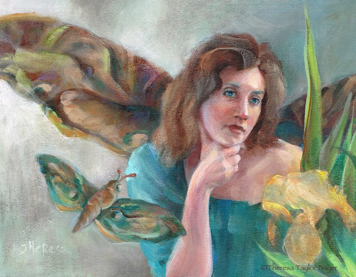 """Moth Fairy"" original fine art by Theresa Taylor Bayer"