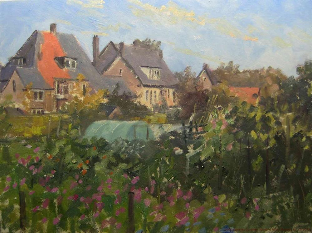 """Allotments Zutphen The Netherlands"" original fine art by René PleinAir"