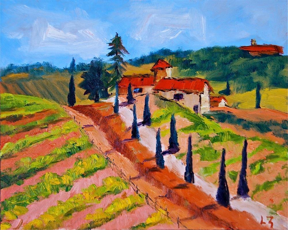 """""""Tuscan Farm"""" original fine art by Liz Zornes"""