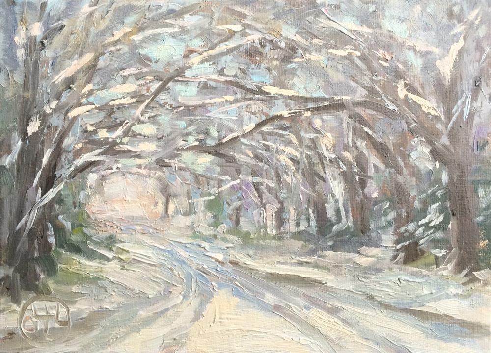 """sparkling"" original fine art by Dottie  T  Leatherwood"