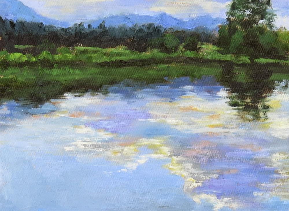"""Ice Lake"" original fine art by Pam Holnback"