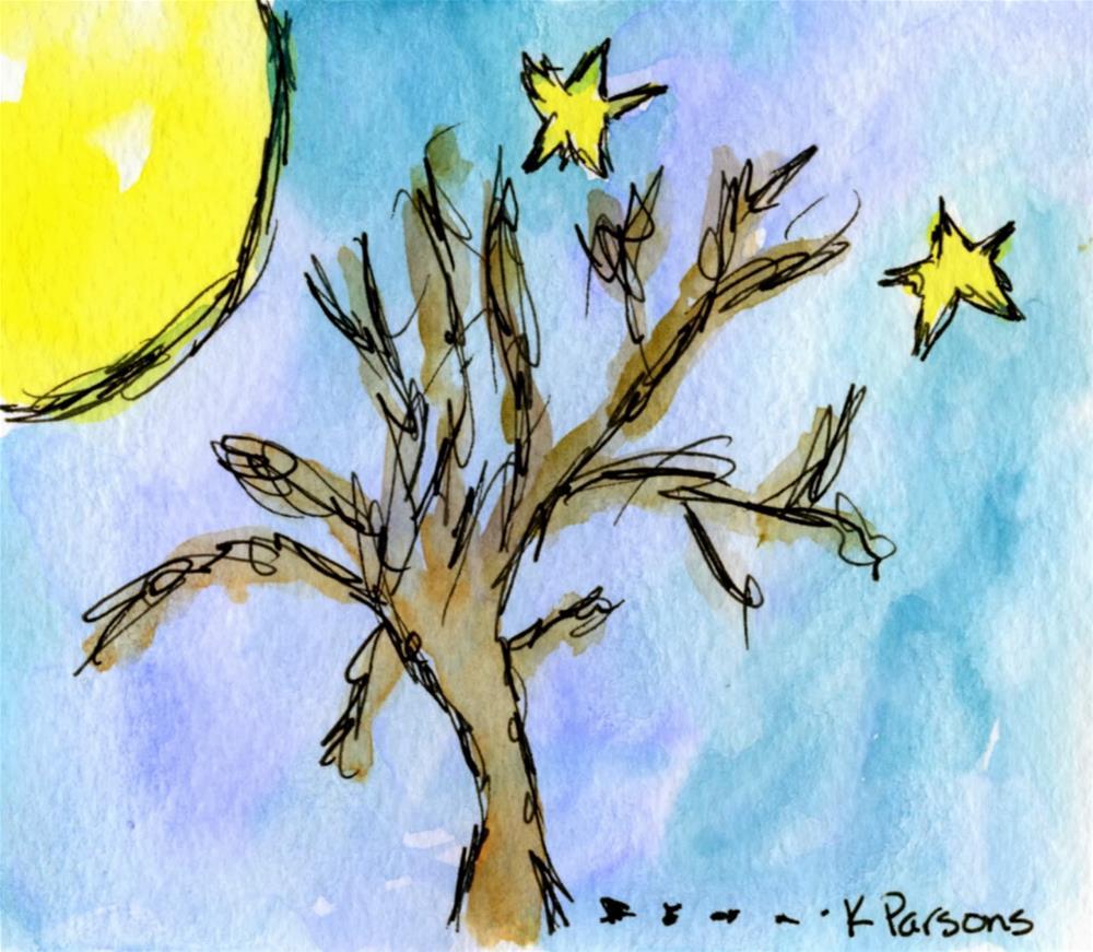 """Moon Lit"" original fine art by Kali Parsons"