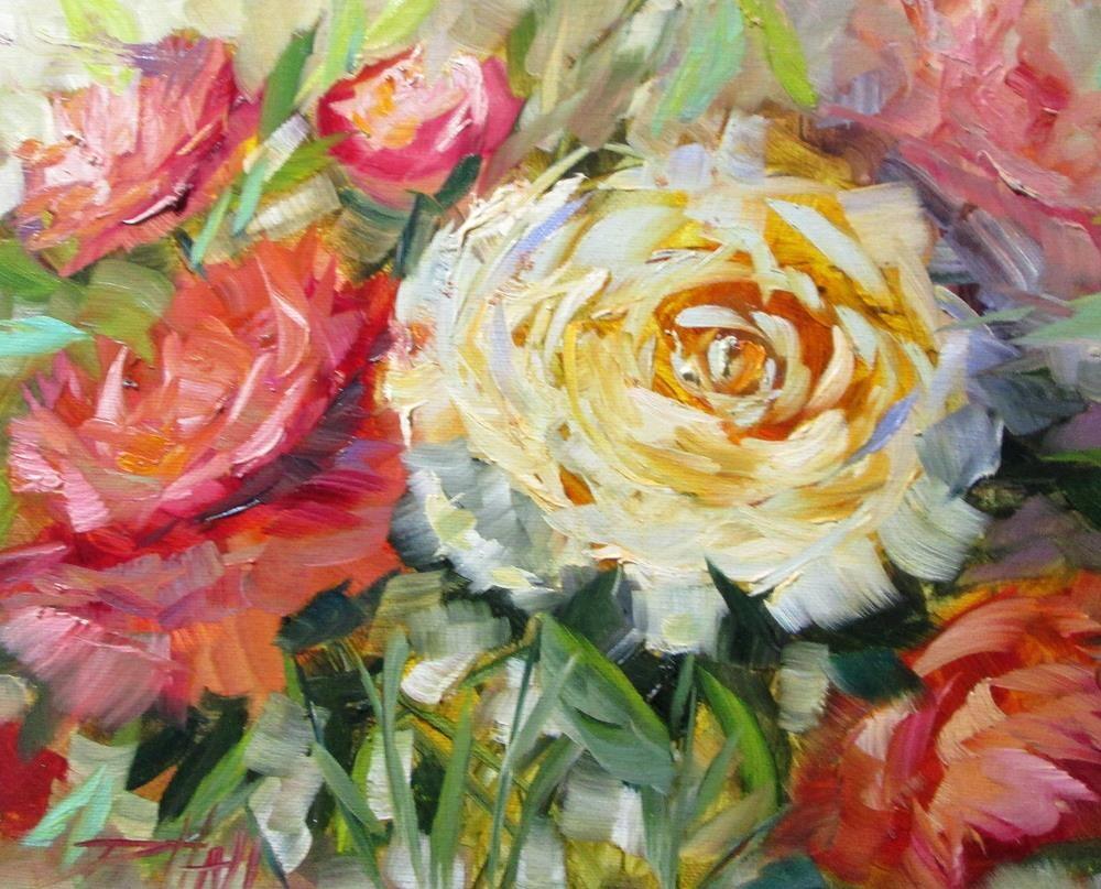 """Peonies"" original fine art by Delilah Smith"