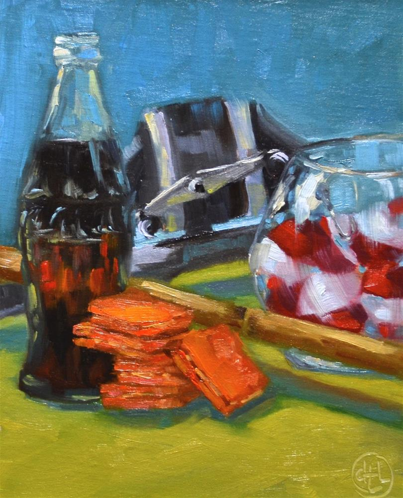 """""""going fishing"""" original fine art by Dottie  T  Leatherwood"""