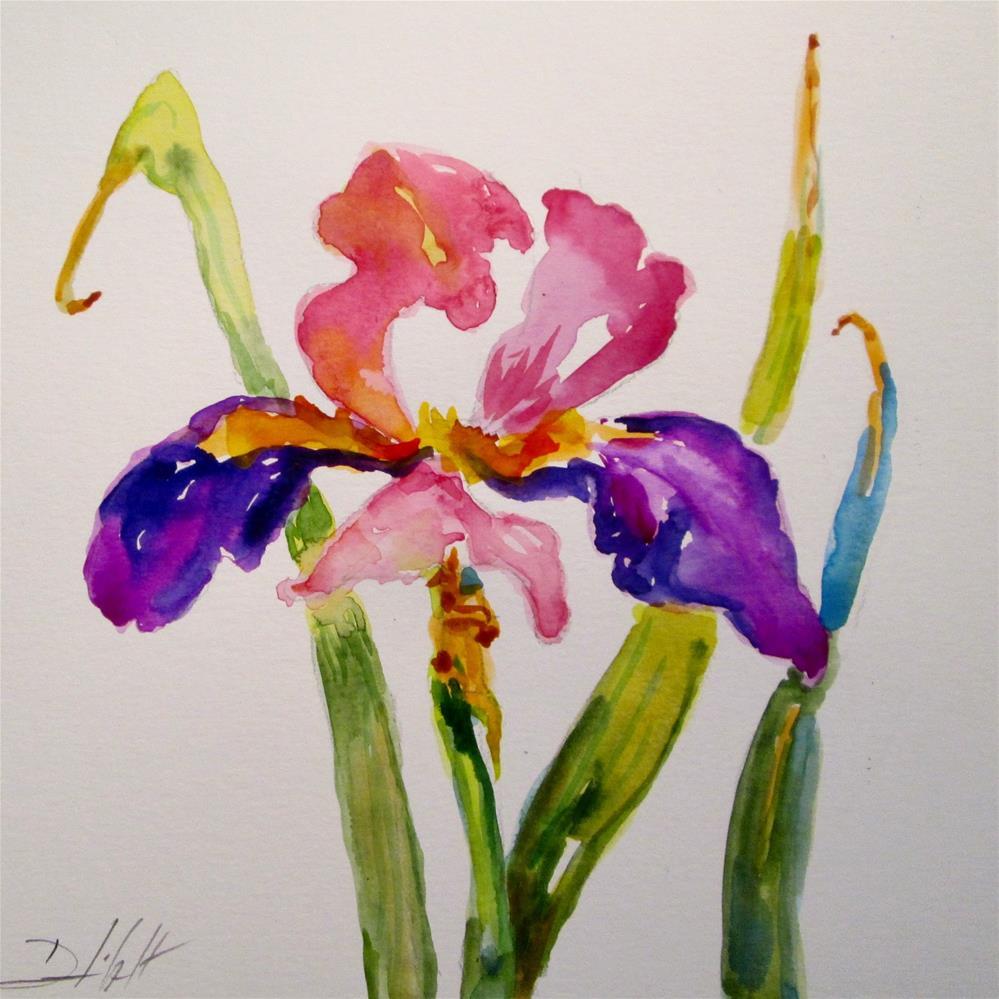 """Spring Iris"" original fine art by Delilah Smith"