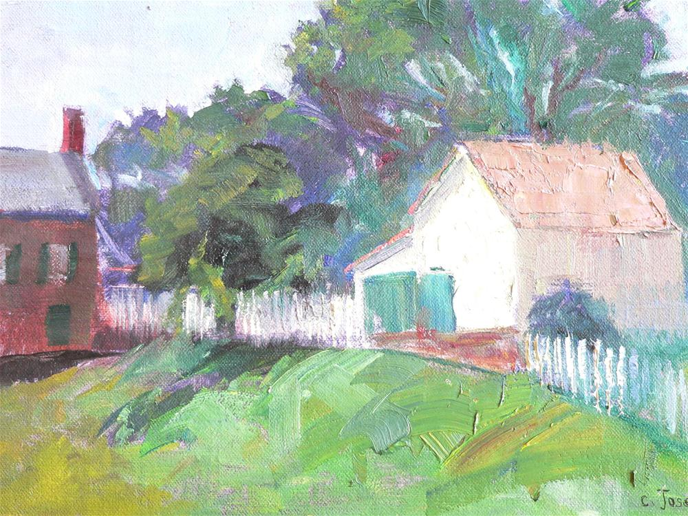 """House in Winston-Salem"" original fine art by Carol Josefiak"