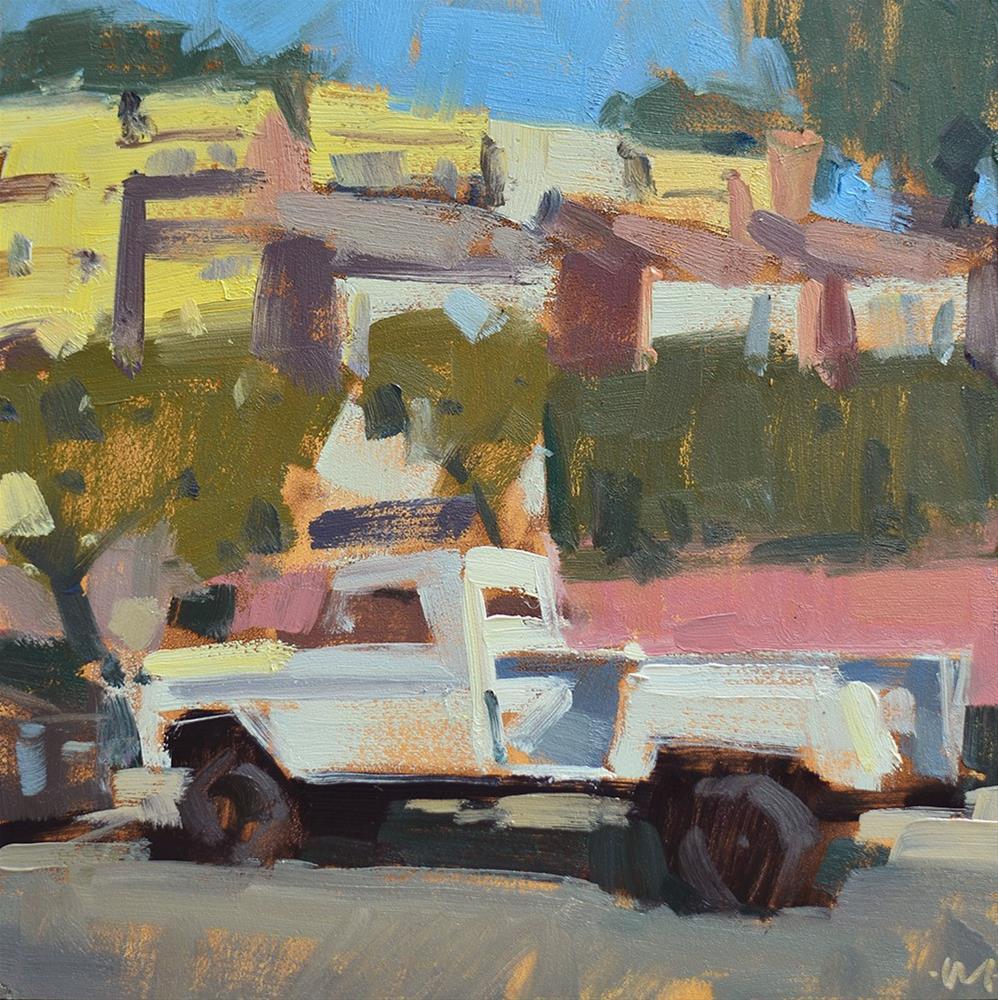 """Sunset Hills Truck"" original fine art by Carol Marine"