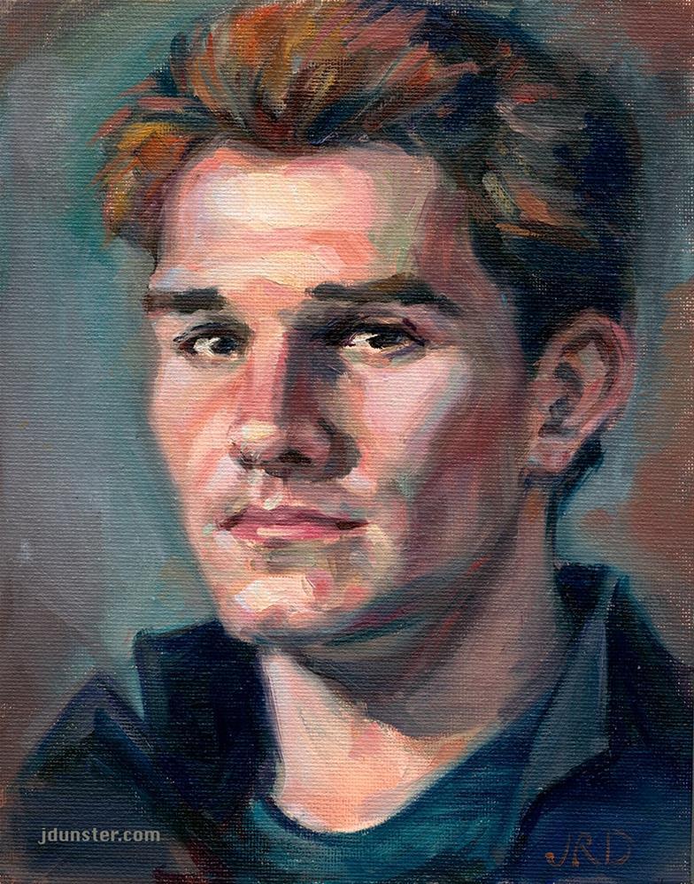 """Matthias From Life"" original fine art by J. Dunster"