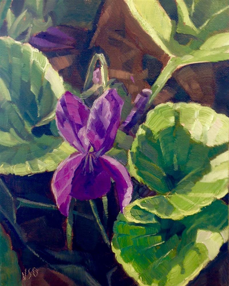 """Small Wonder (Violet) I"" original fine art by Valerie Orlemann"