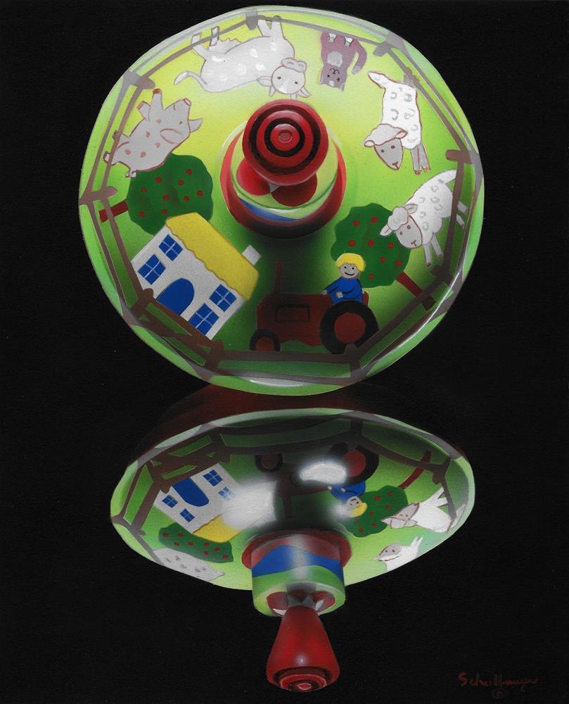 """Farming Top"" original fine art by Fred Schollmeyer"