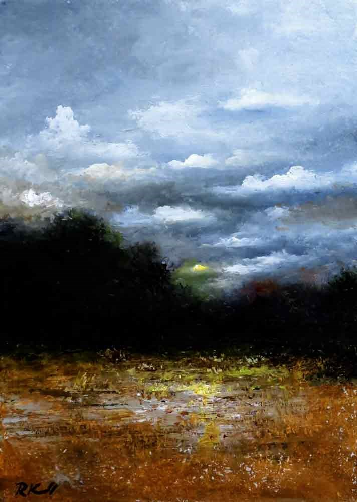 """""""Partly Cloudy"""" original fine art by Bob Kimball"""