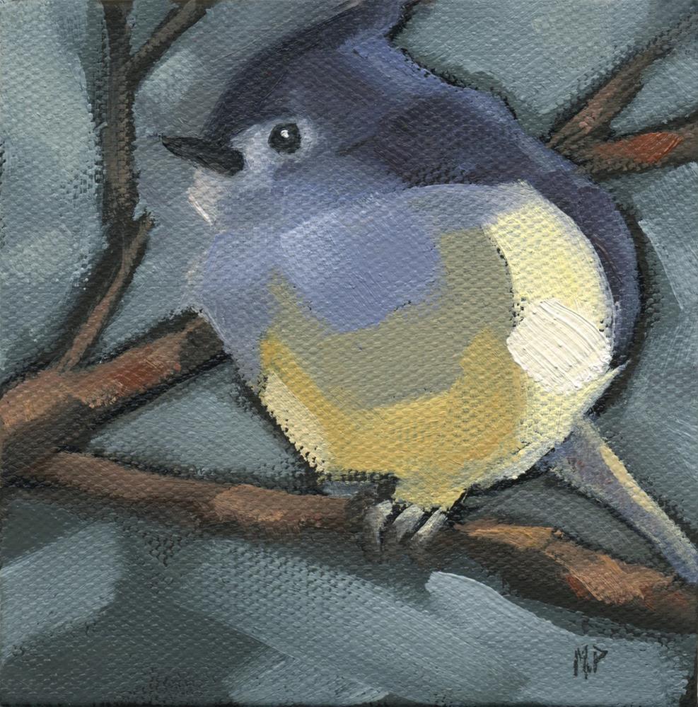 """""""SOLD - Titmouse Camo"""" original fine art by Nancy Parsons"""