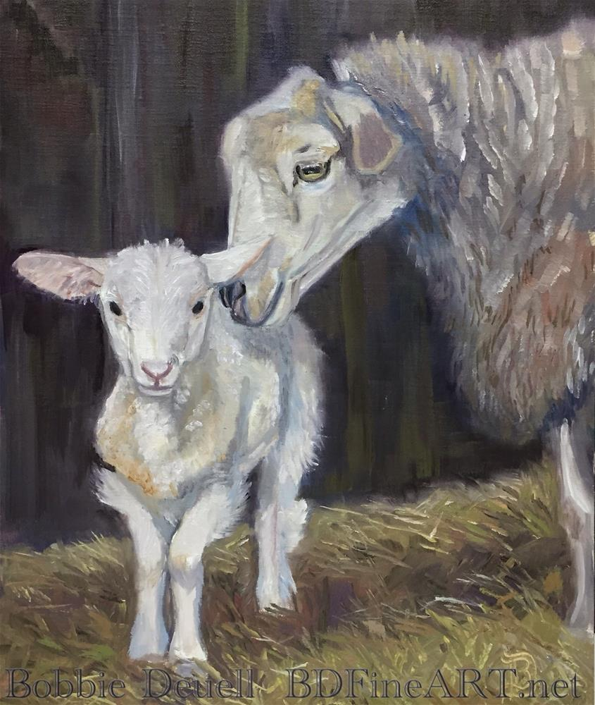 """""""#24 Mamma's Love"""" original fine art by Bobbie Deuell"""