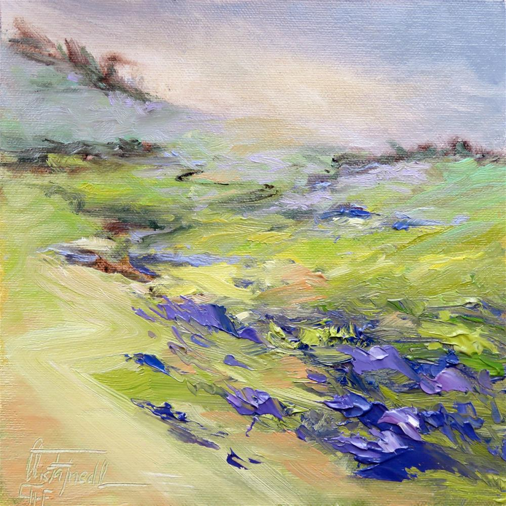 """Violets Meadow"" original fine art by Christa Friedl"