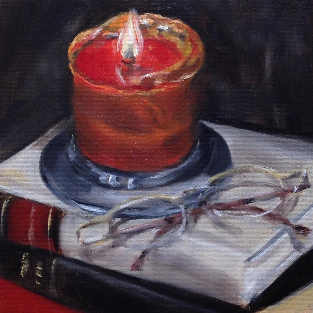 """""""By Candle Light"""" original fine art by Linda Lowery"""