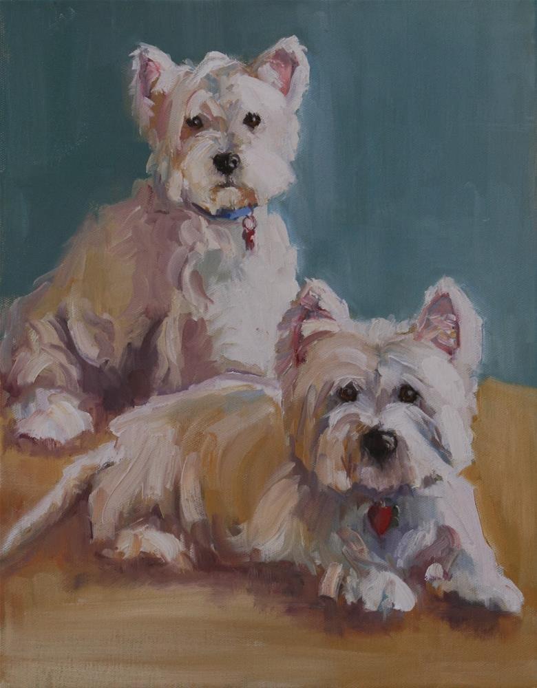 """new babies"" original fine art by Carol Carmichael"