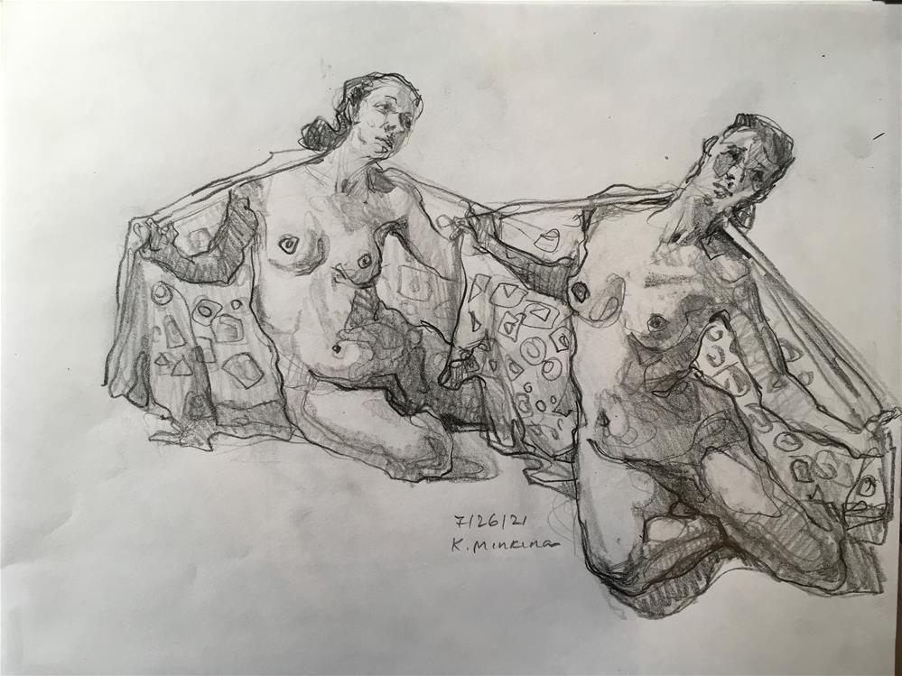 """Figure75"" original fine art by Katya Minkina"