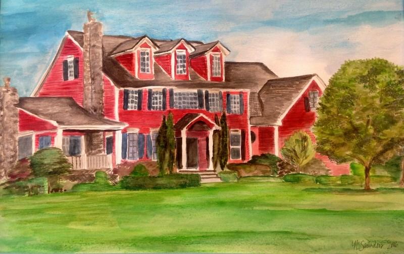 """Margaret's House"" original fine art by Nicole Saunders"