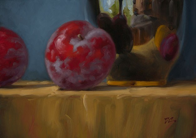 """Black Vase"" original fine art by David Capalungan"