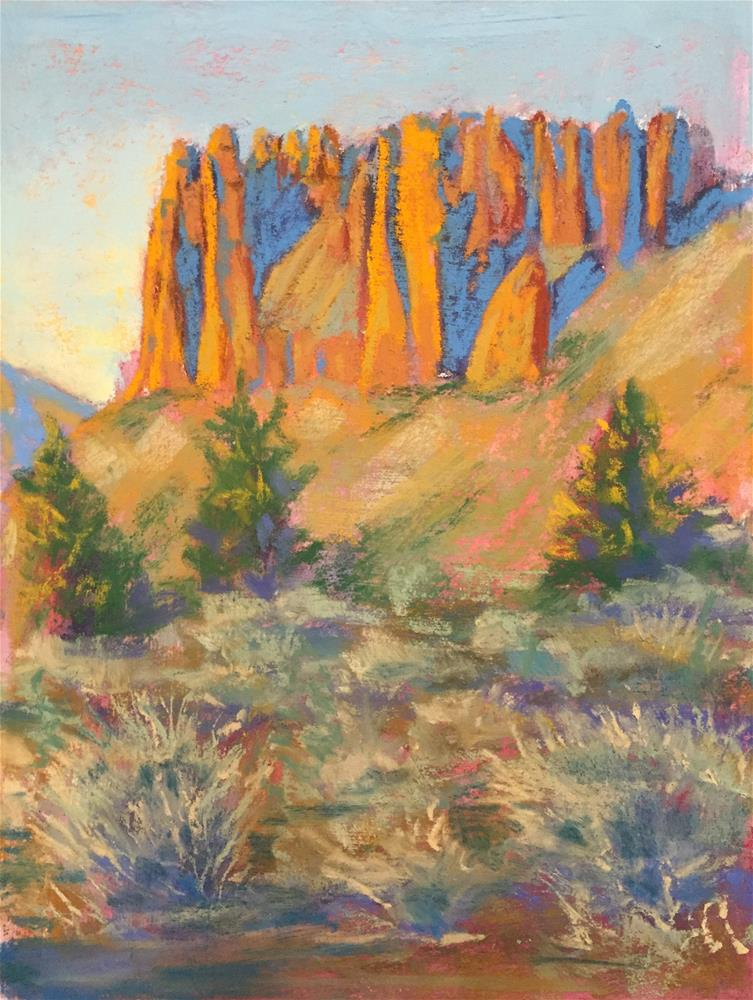 """Desert hills"" original fine art by Natasha Ramras"