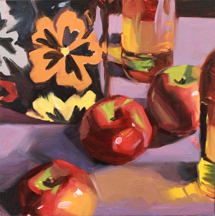 """Apples and Cider"" original fine art by Nealy May Riley"
