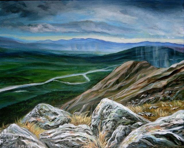"""The Pelly frrom Rose Mountain"" original fine art by Jackie Irvine"