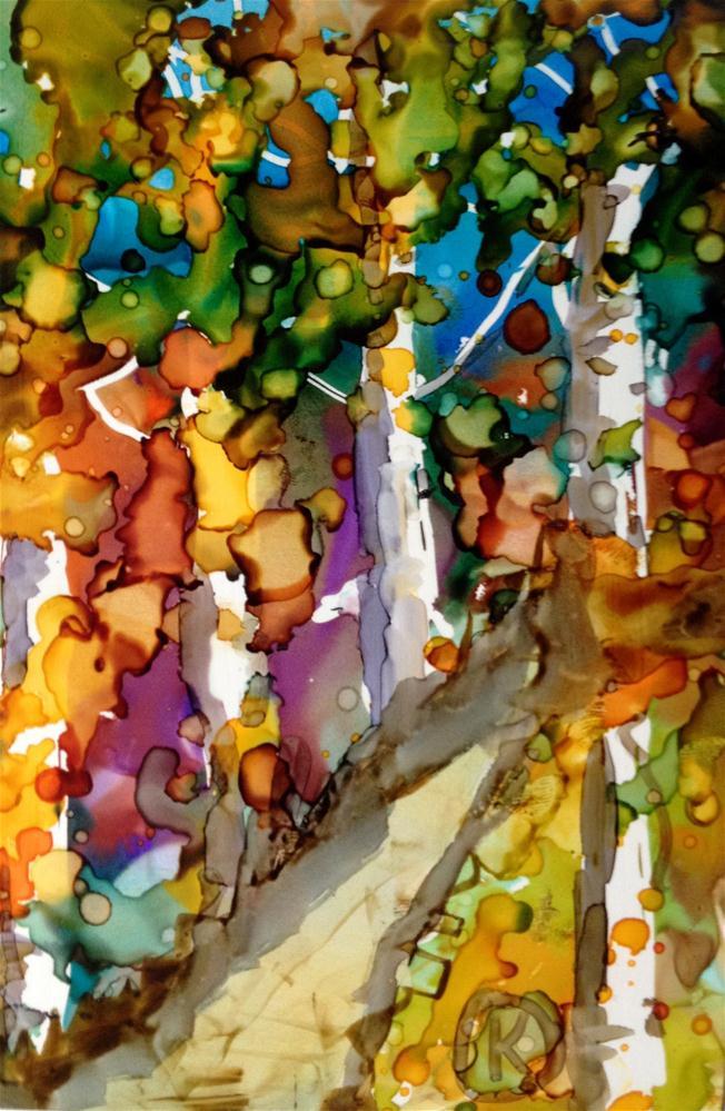 """spring path"" original fine art by Kristen Dukat"