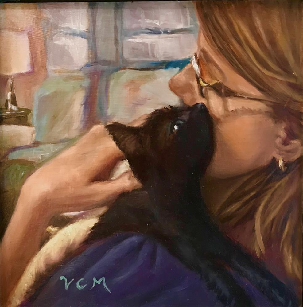 """Kitten Love"" original fine art by Vana Meyers"