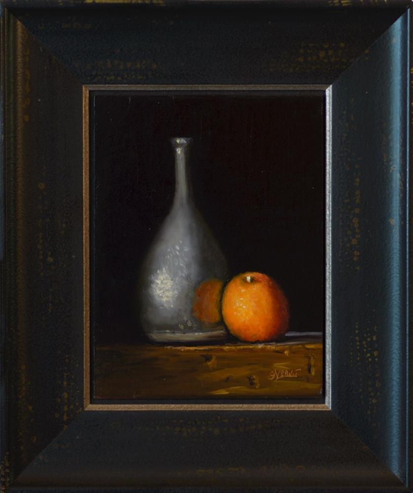 """""""Vase and Orange"""" original fine art by Garry Kravit"""