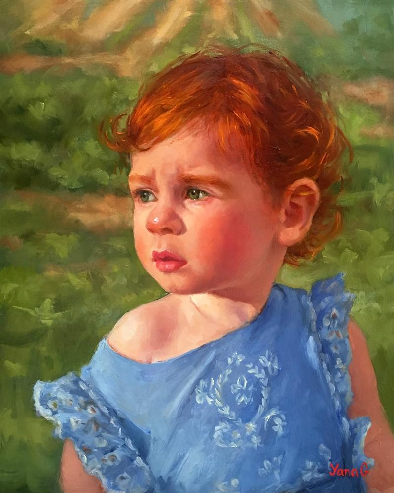 """Olivia. Origianl oil painting "" original fine art by Yana Golikova"