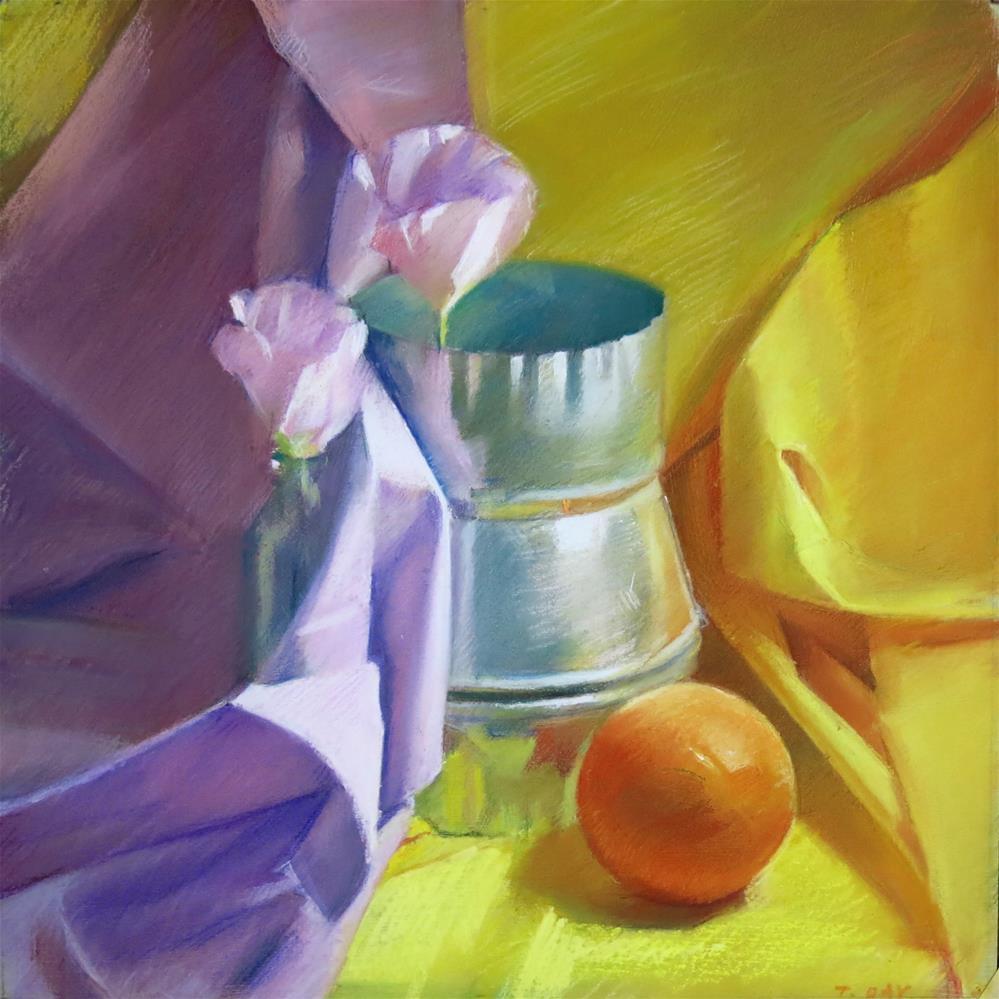"""Duct with Orange"" original fine art by Taryn Day"