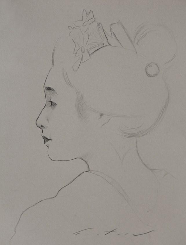 """""""Study of Maiko Mameroku"""" original fine art by Phil Couture"""