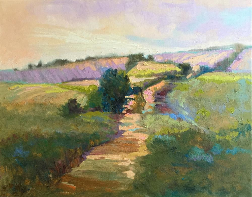 """Winding Lane"" original fine art by Charlotte Fitzgerald"